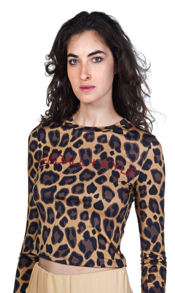 Γυναικεία Ρούχα KENDALL&KYLIE CLASSIC T-SHIRT ANIMAL