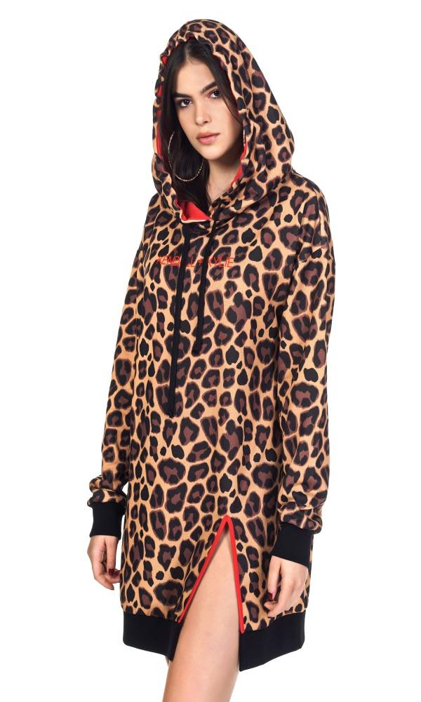 Γυναικεία Ρούχα KENDALL&KYLIE ANIMAL HOODIE DRESS