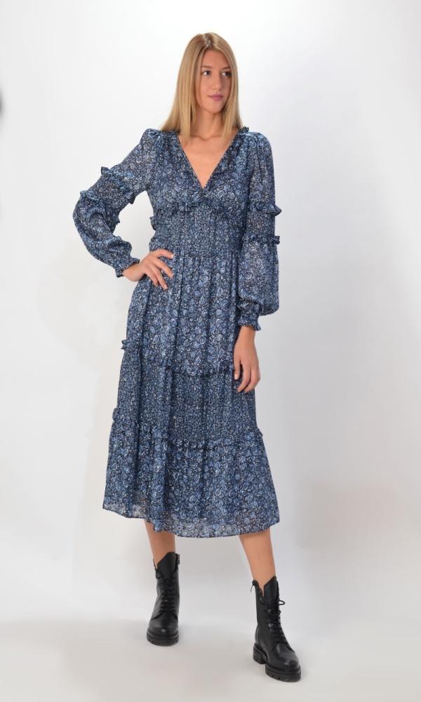 Γυναικεία Ρούχα MICHAEL KORS MAXI DRESS WITH MINI RUFFLES