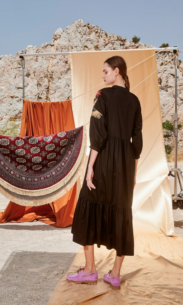 Γυναικεία Ρούχα NEMA PARAKEET MIDI DRESS N410-08500