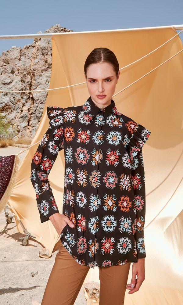 Γυναικεία Ρούχα NEMA TIERED SHIRT N009-03600