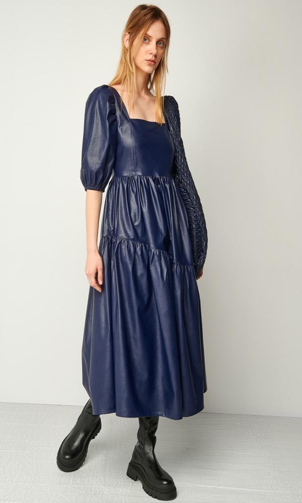 Γυναικεία Ρούχα BLACK & BLACK LEATHER DRESS