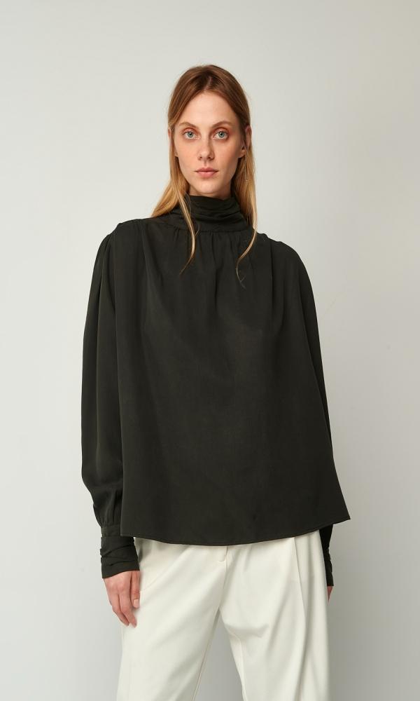 Γυναικεία Ρούχα BLACK&BLACK TURTLNECK BLOUSE