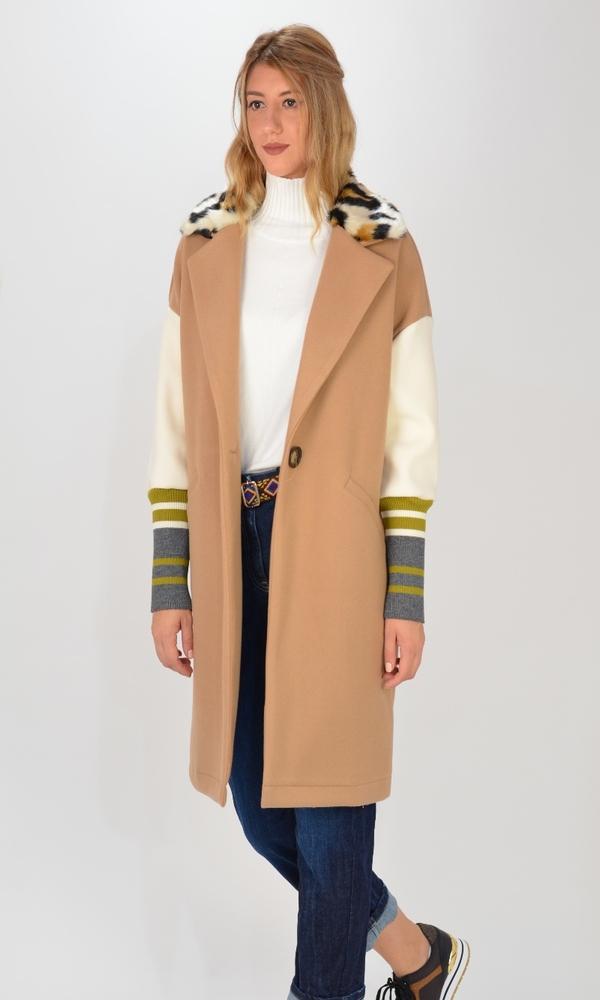 Γυναικεία Ρούχα MARYLEY DOUDLE LEOPAR COAT