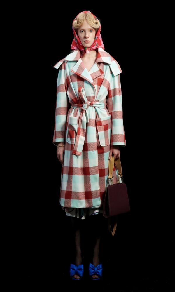 Γυναικεία Ρούχα WE ARE GINGHAM COGNAC UNISEX COAT
