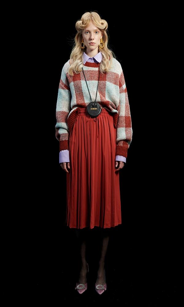 Γυναικεία Ρούχα WE ARE GINGHAM COGNAC