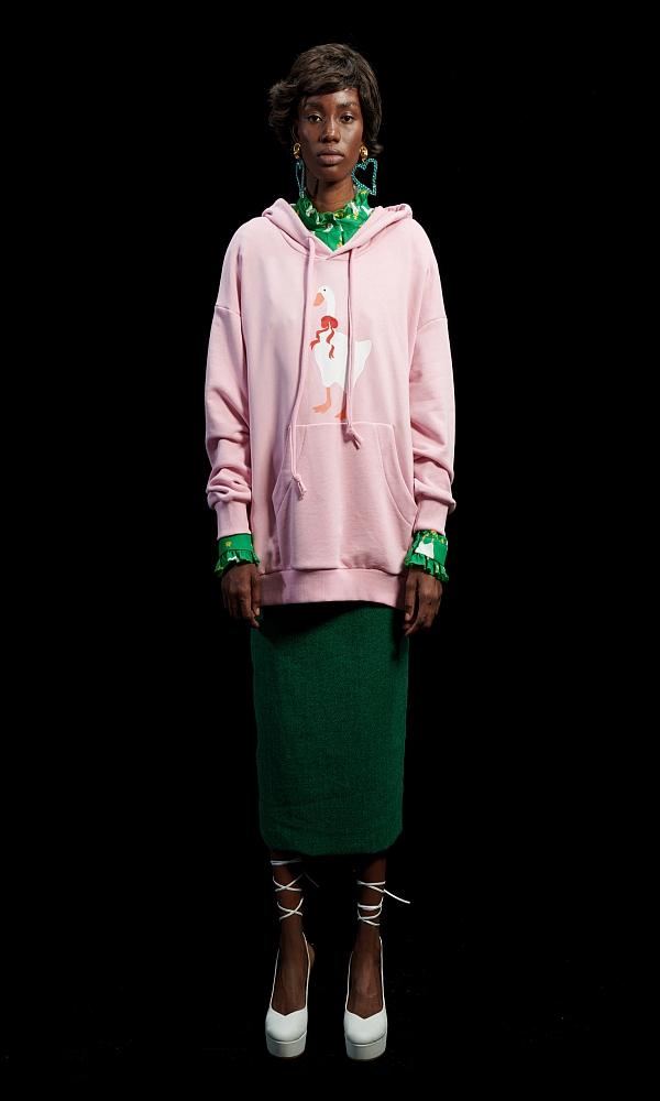 Γυναικεία Ρούχα WE ARE PINK GOOSE HOODIE