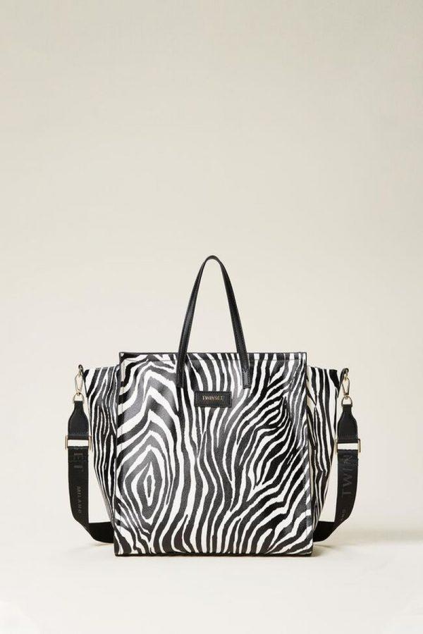 Shopping Bags TWINSET ANIMAL PRINT BAG