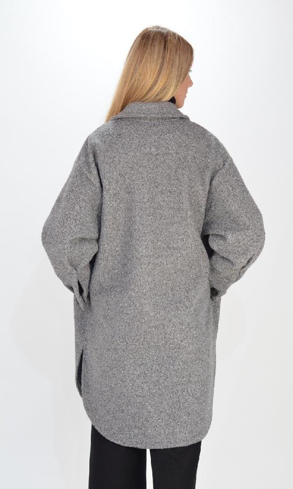 Γυναικεία Ρούχα C.KONTOVA GREY OVERSHIRT
