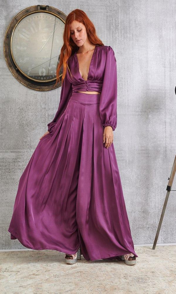 Γυναικεία Ρούχα LACE PURPLE RAIN PANTS