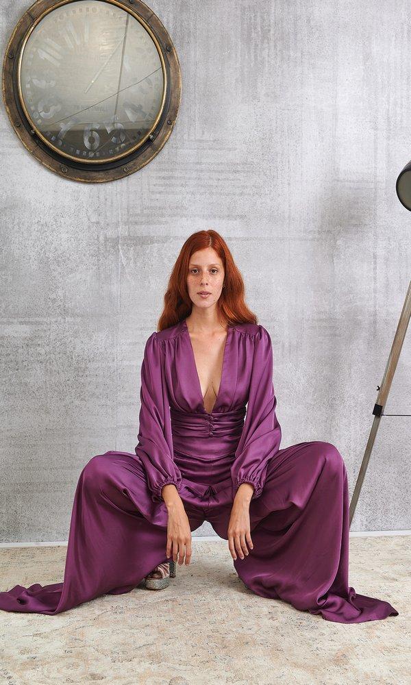 Γυναικεία Ρούχα LACE PURPLE TOP
