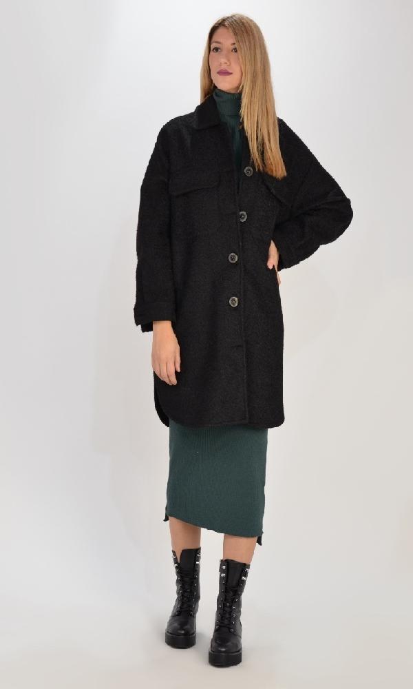 Γυναικεία Ρούχα C.KONTOVA  BLACK OVERSHIRT