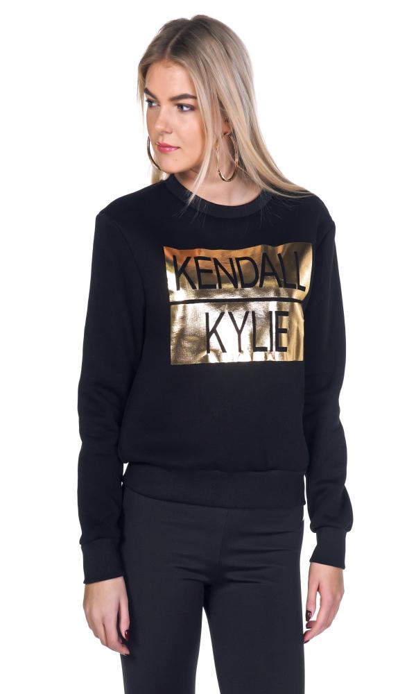 Γυναικεία Ρούχα KENDALL AND KYLIE GOLD SWEATER