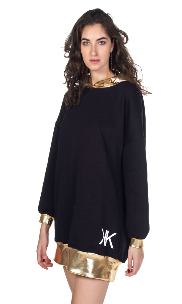 Γυναικεία Ρούχα KENDALL AND KYLIE METALLIC STRIPE DRESS