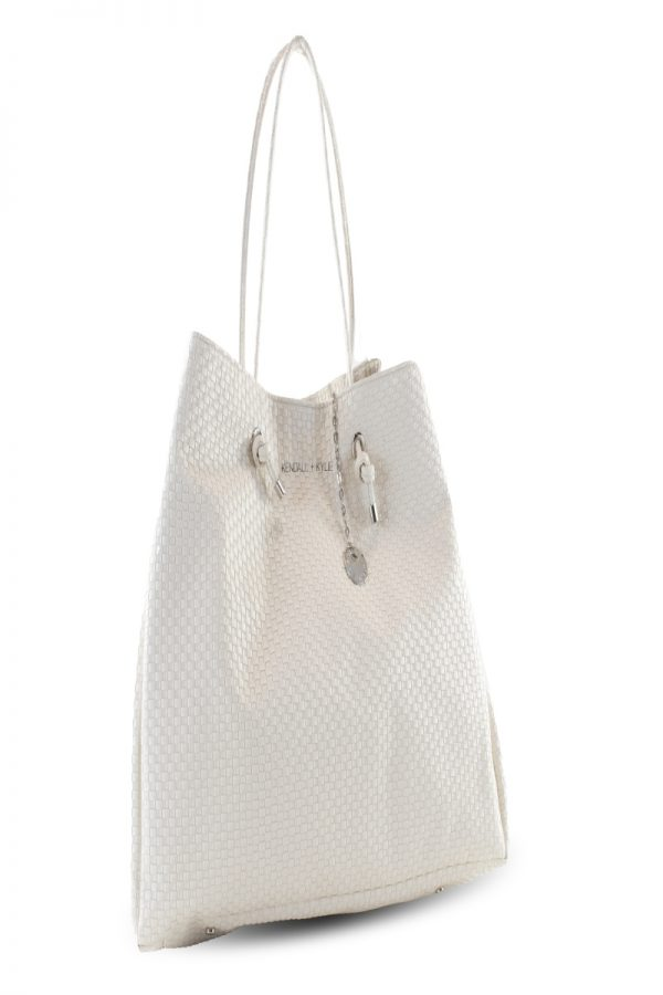 Shopping Bags KENDALL AND KYLIE CREAM SHOPPING BAG