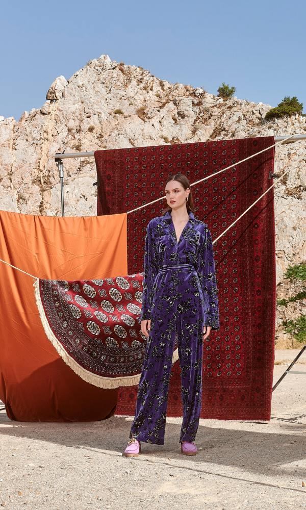 Γυναικεία Ρούχα NEMA JUMPSUIT VELVET