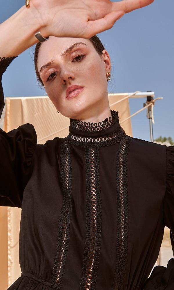 Γυναικεία Ρούχα NEMA CISNE BLACK DRESS