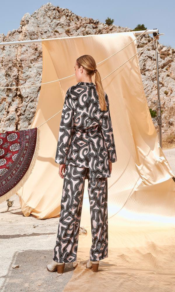 Γυναικεία Ρούχα NEMA VELVET PRINTED PANTS