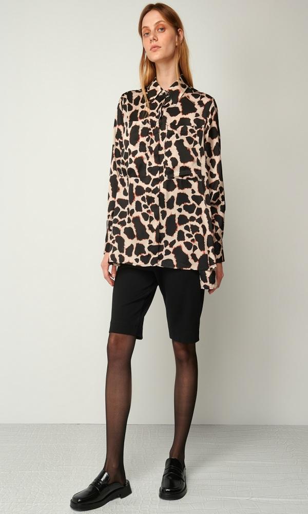 Γυναικεία Ρούχα BLACK&BLACK ANIMAL PRINT SHIRT