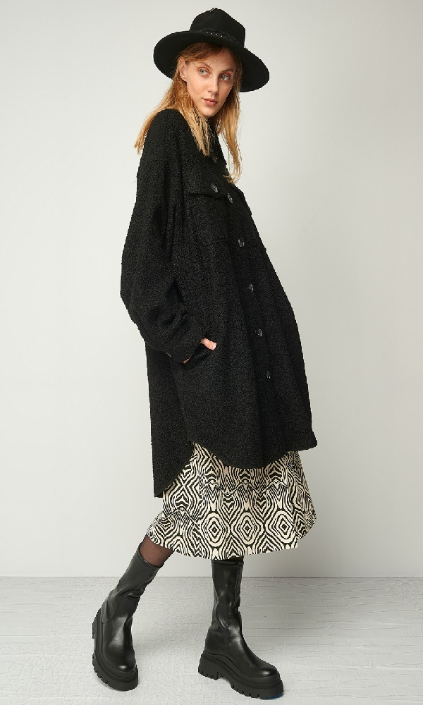 Γυναικεία Ρούχα BLACK & BLACK OVERSIZE JACKET