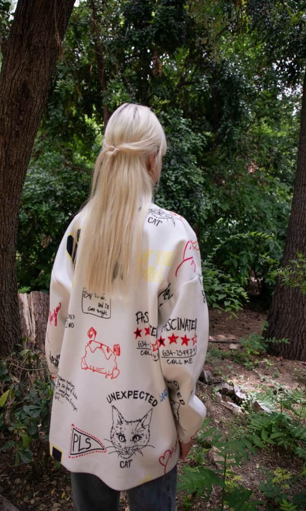 Γυναικεία Ρούχα NEVER ON SUNDAY by NEMA LETTERS JACKET