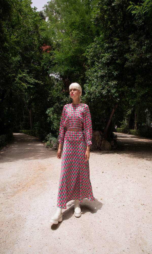 Γυναικεία Ρούχα NEVER ON SUNDAY by NEMA RHOMBUS SKIRT